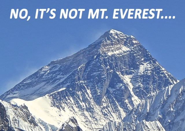 Mount Everest is not the tallest mountains