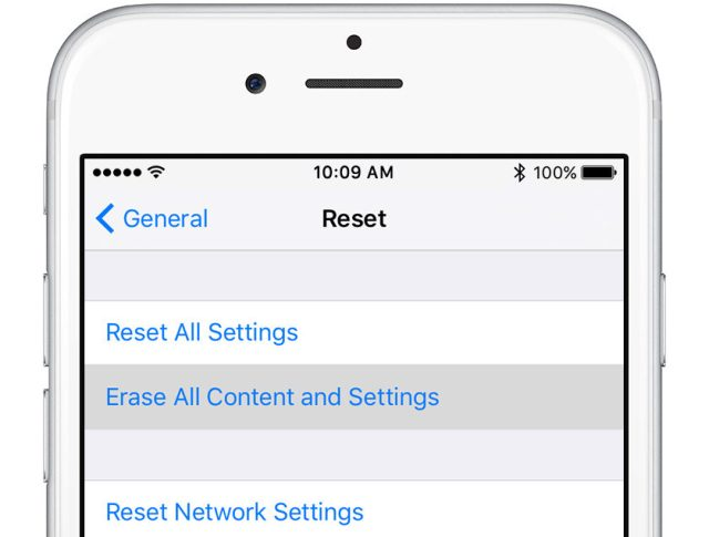 Reset iPhone and iPad