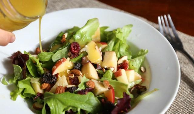 venaigrette with salad