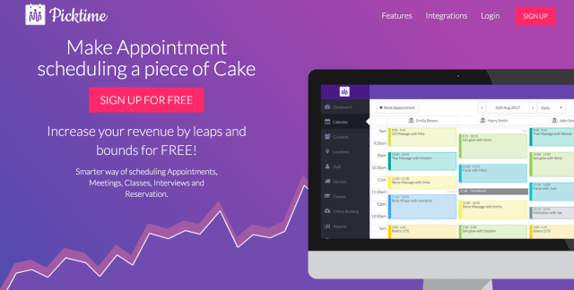 Picktime Free Appointment Scheduling Software