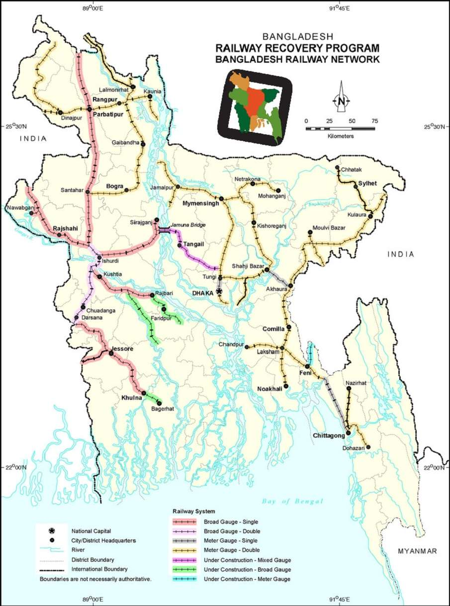 Railway Route Map Bangladesh