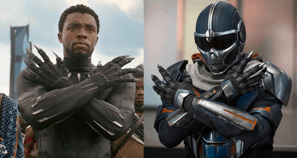 Taskmaster as Black Panther