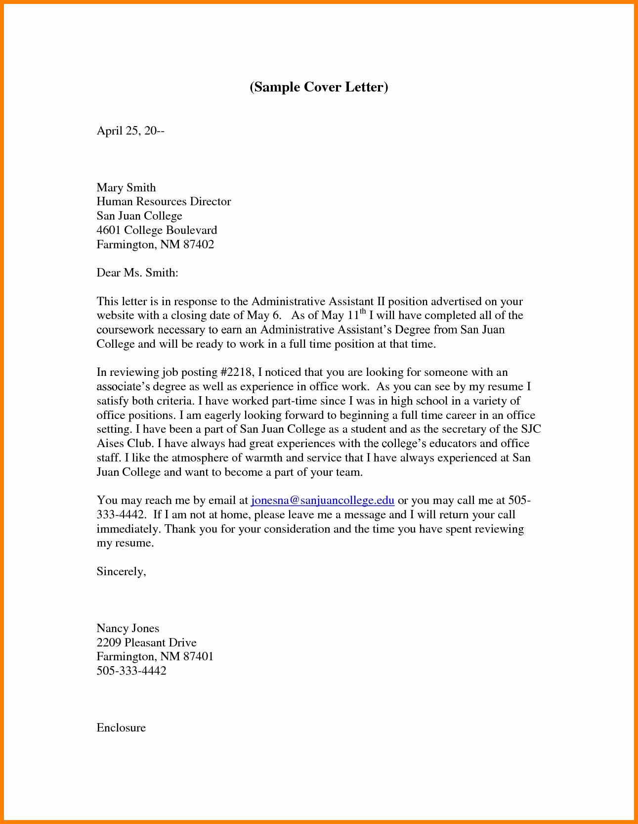Administrative Assistant Cover Letters 15 Cover Letter Example For Administrative Assistant Waa Mood