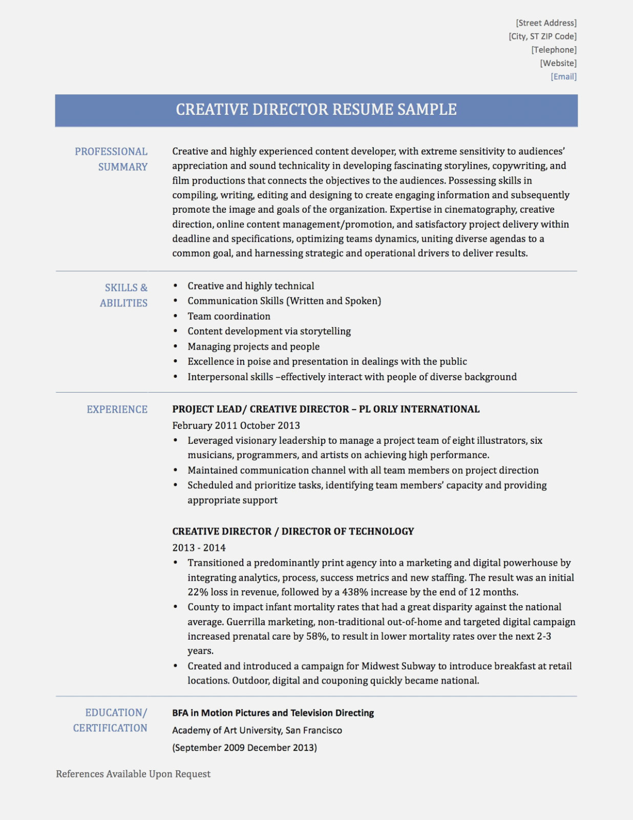 Art Director Resume  How To Get People To Like Realty Executives Mi Invoice And