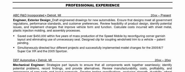 Best Resume Format Best Resume Sample Mechanical Engineer Valid 46 Best Mechanical