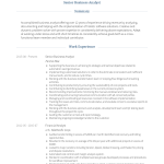 Business Analyst Resume Senior Business Analyst Cv Example Monte business analyst resume|wikiresume.com