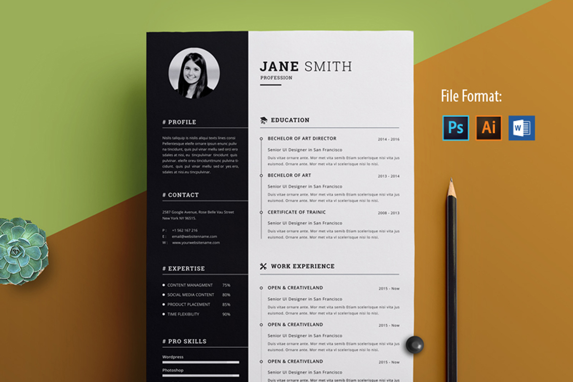 Creative Resume Template Free Image Preview creative resume template free|wikiresume.com