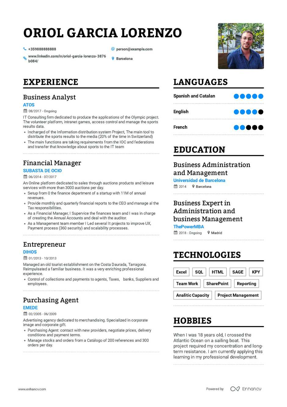 Example Of A Resume Business Analyst Resume example of a resume wikiresume.com