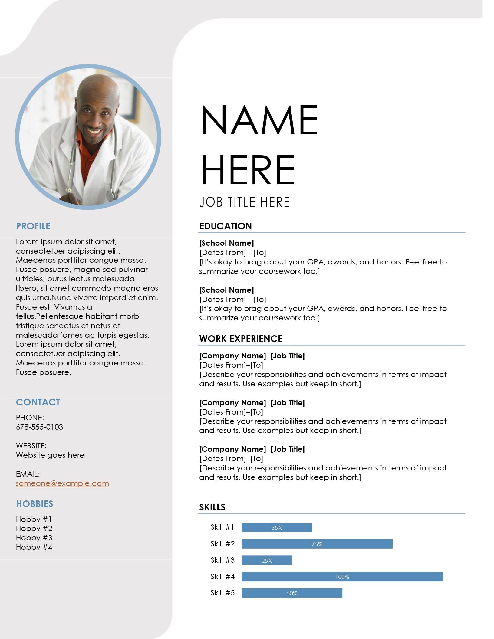 Free Resume Template Image free resume template|wikiresume.com