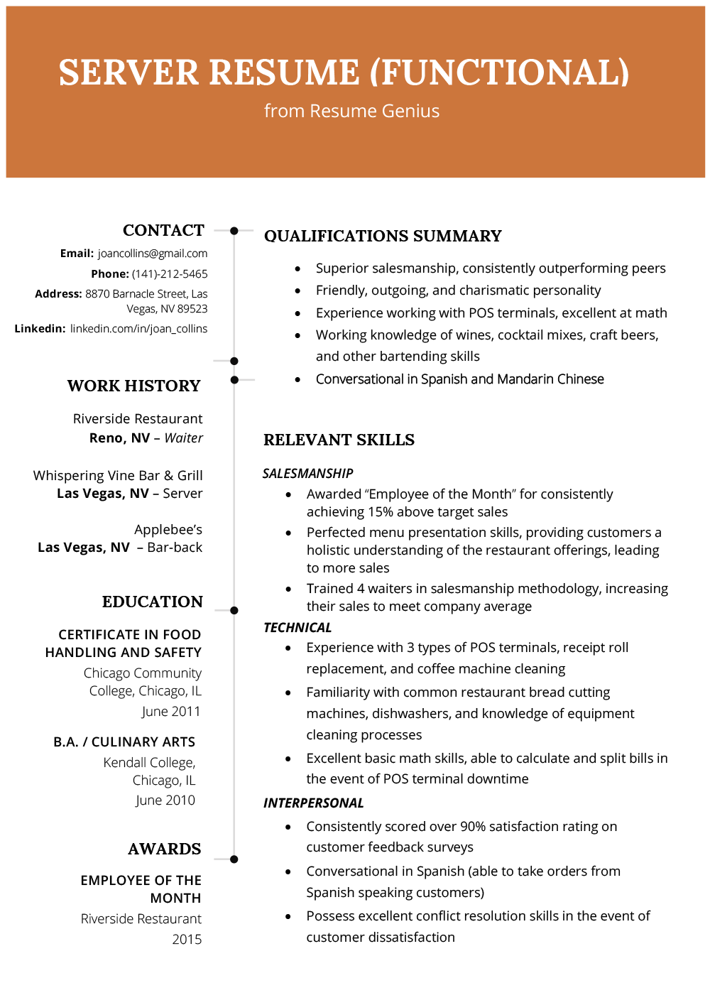 Functional Resume Template Functional Resume Sample functional resume template|wikiresume.com