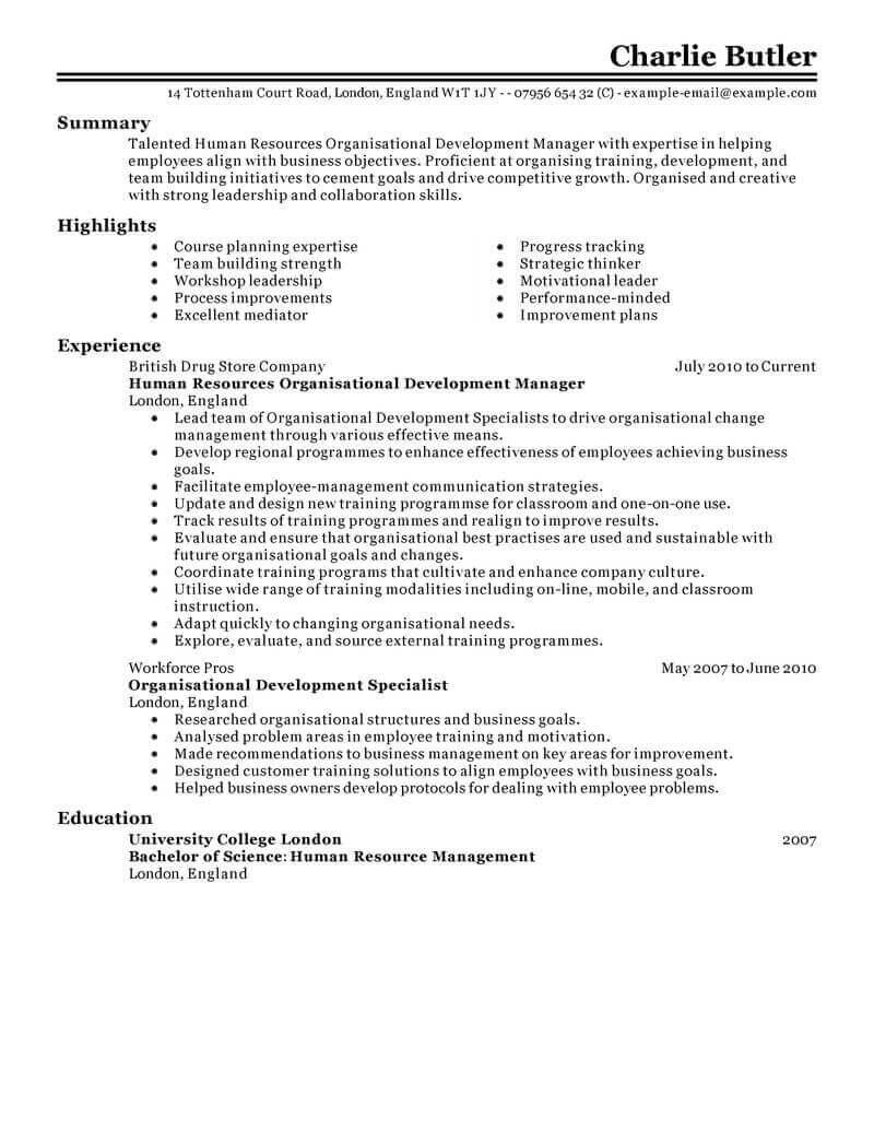 Human Resources Resume Organizational Development Human Resources Classic human resources resume|wikiresume.com