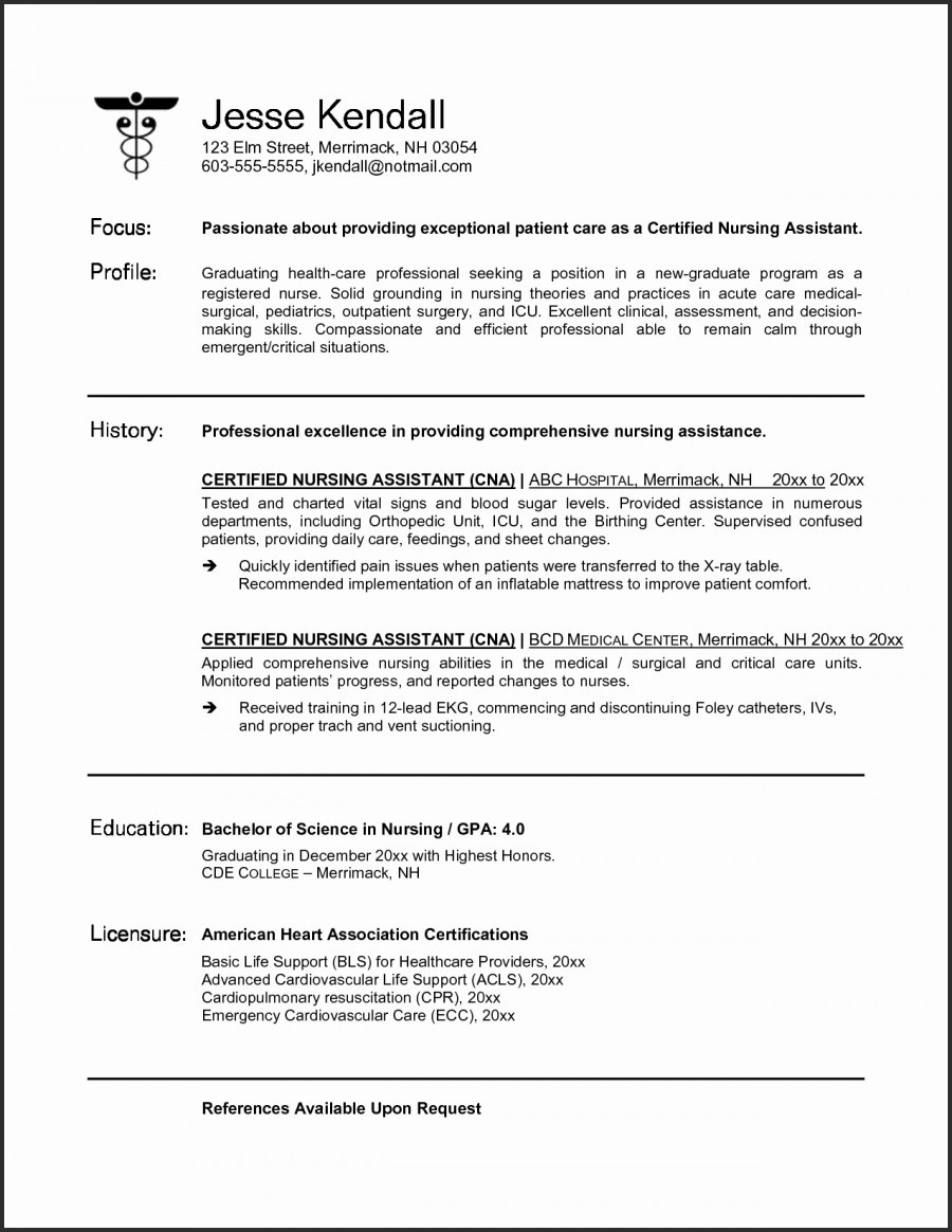 New Grad Nurse Resume Resume Template For New Graduate Nurse 4 new grad nurse resume|wikiresume.com