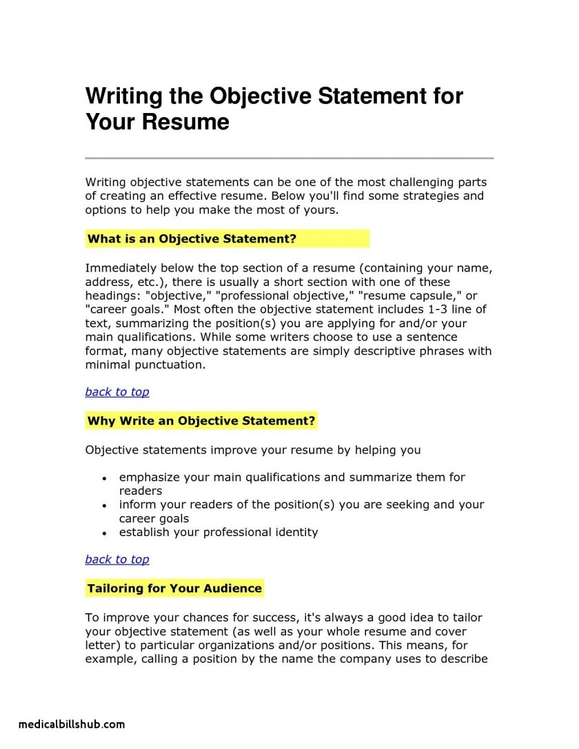 Objective For Resume Customer Service Goals Objectives Examples Resume Objective Statement Awesome Resumes On For Smart And objective for resume|wikiresume.com