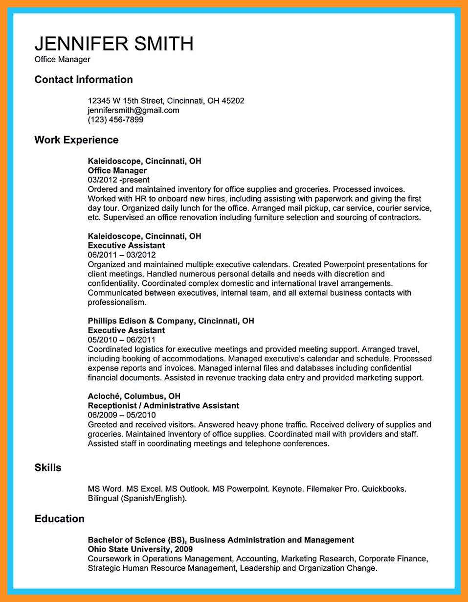 Resume Examples Office  8 9 Office Coordinator Resume Examples Crystalray