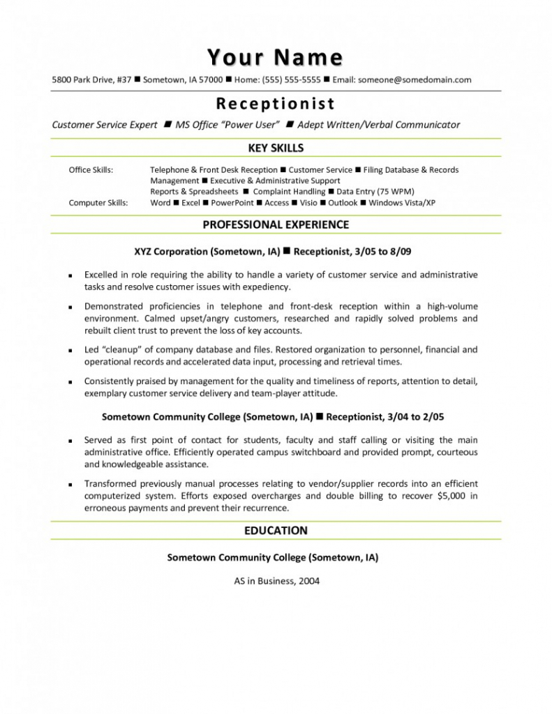 Resume Examples Office  Medical Receptionist Resume Examples 14 Office Sample Job And