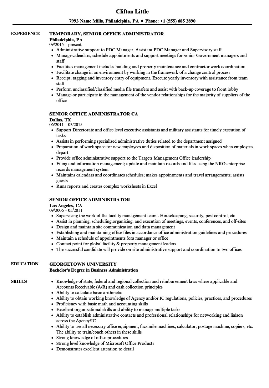 Resume Examples Office  Office Administration Resume Examples Digitalpromots