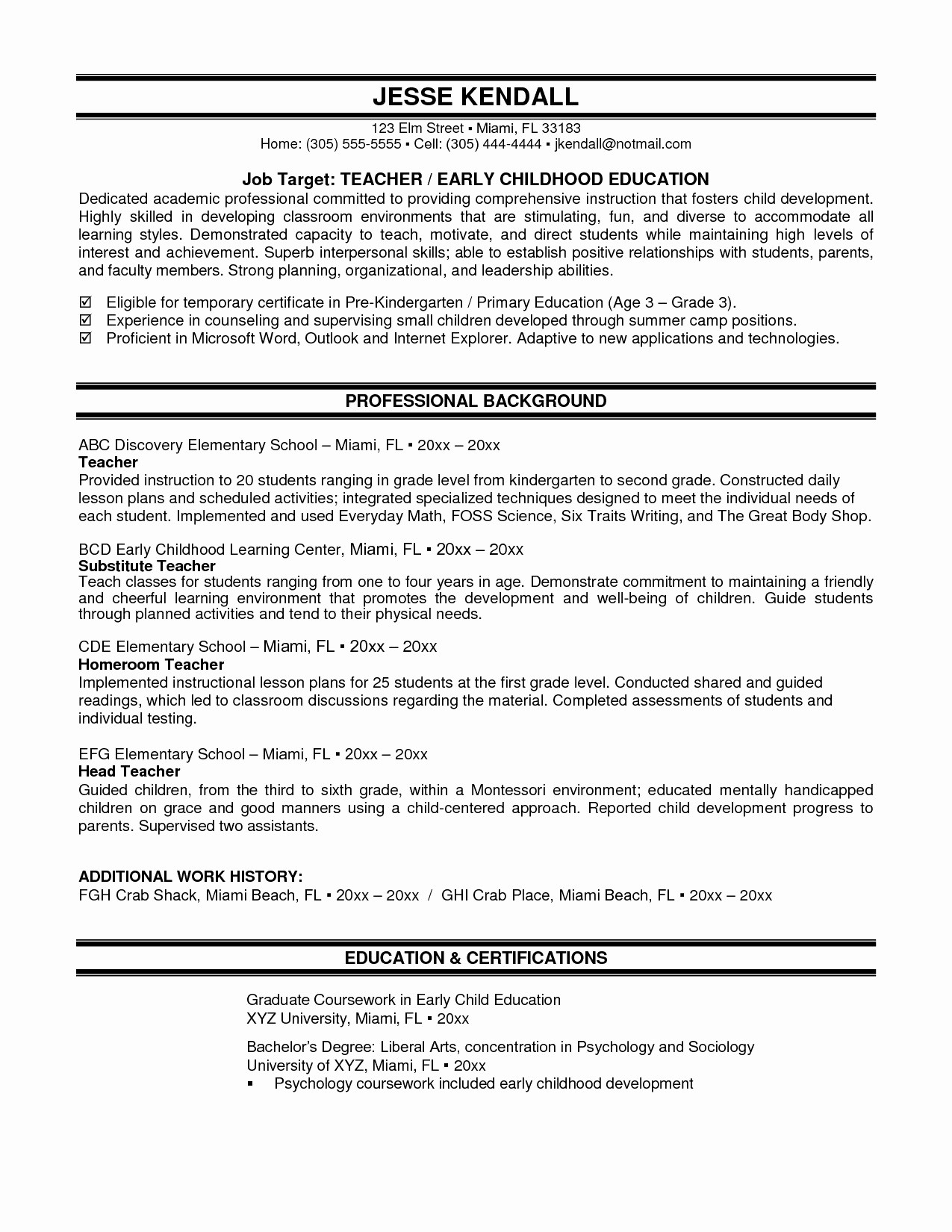 Resume Summary Examples Esthetician Resume Summary Examples Cover Letter Entry Level