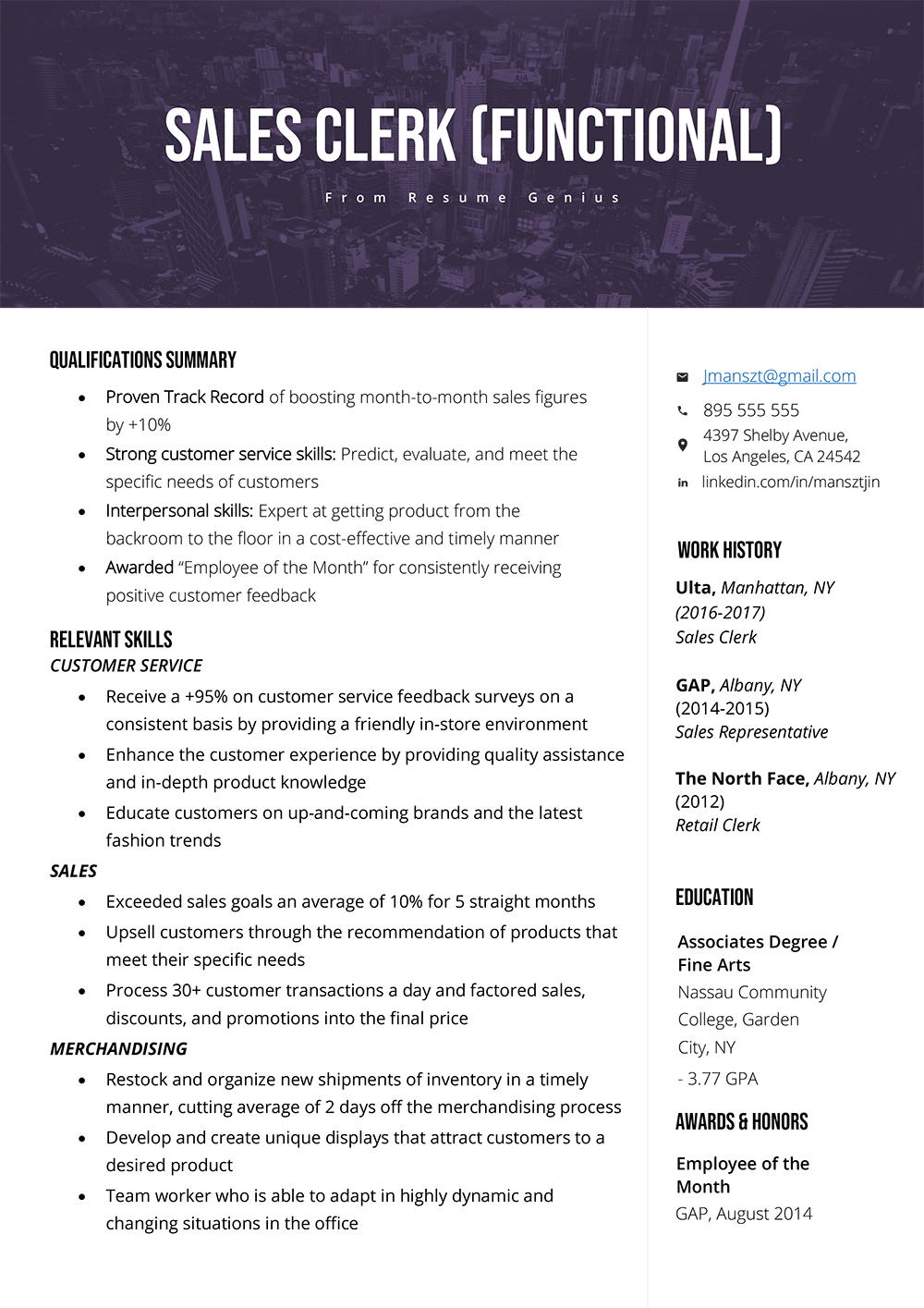 Resume Summary Examples How To Write A Qualifications Summary Resume Genius