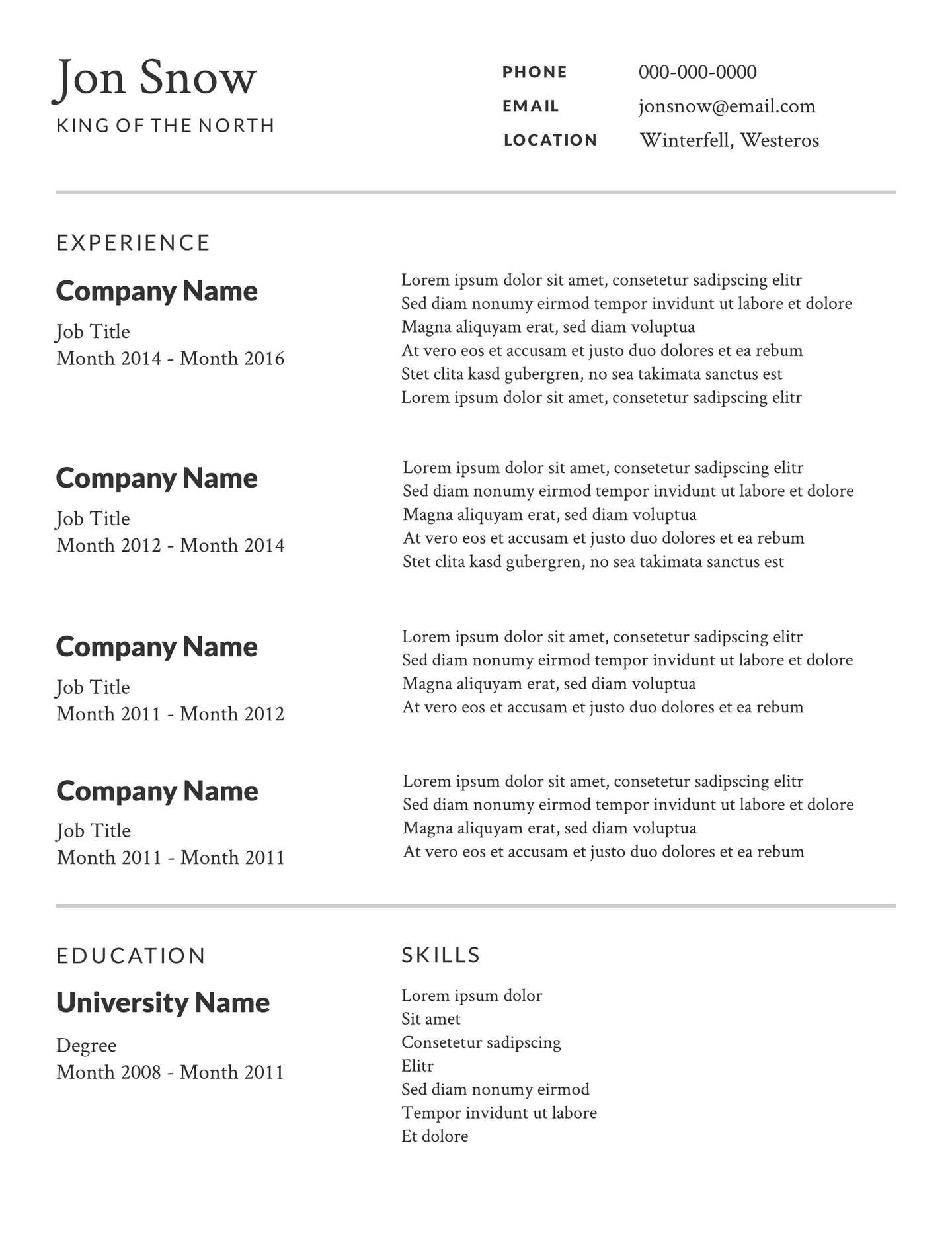 Resume Template Free Resume Professional2x resume template free|wikiresume.com