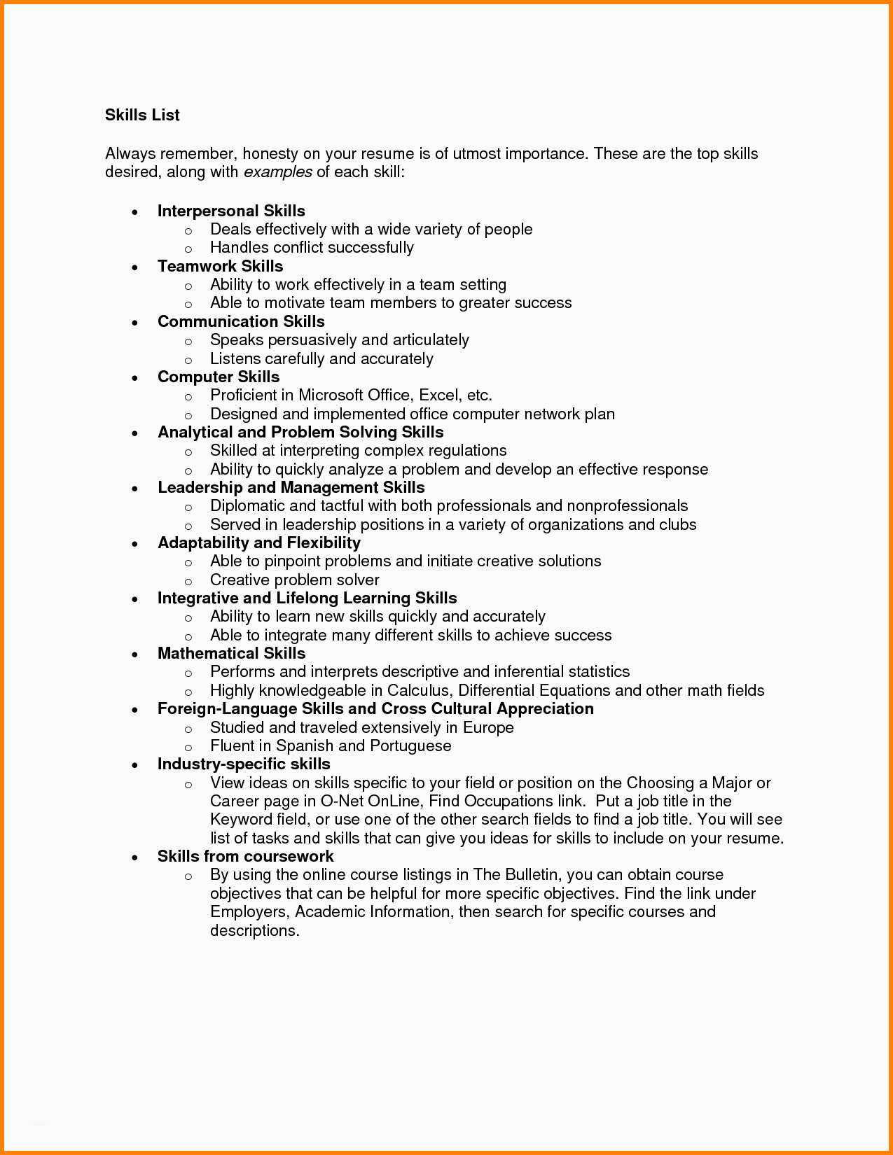 Resume Tips Skills 20 Remarkable Excel Skills Resume Examples