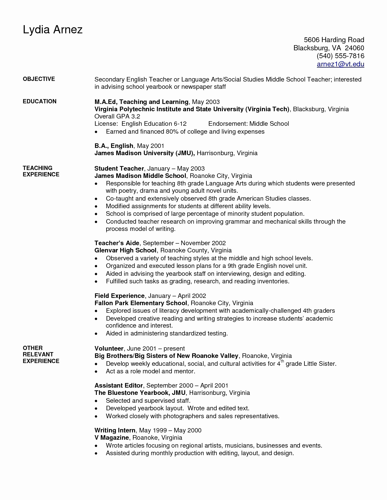Teacher Cover Letter Elementary English Teaching Cover Letter Awesome Resume Template For Music