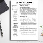 Two Page Resume Resume Template Ruby Watson 2 Page B two page resume wikiresume.com