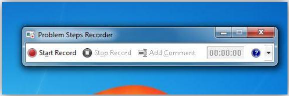 Recorder toolbar