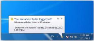 Windows Shutting Down