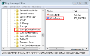 Storage Device Policies - Write Protected