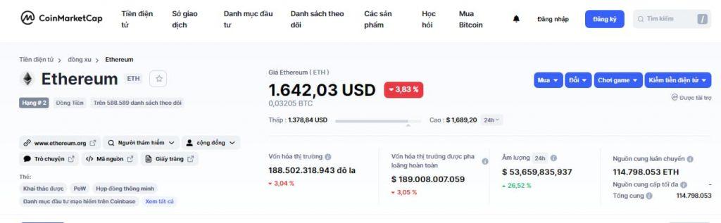 Giá của Ethereum trên coinmarketcap- ảnh 6