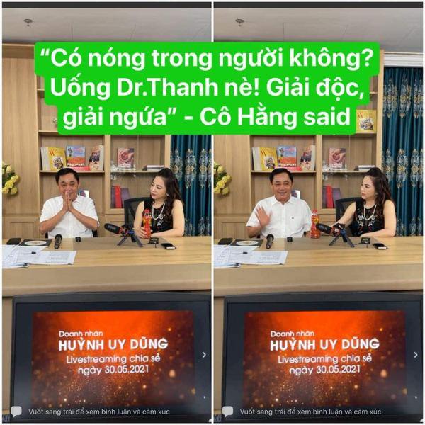 Vy Oanh quảng cáo Dr Thanh
