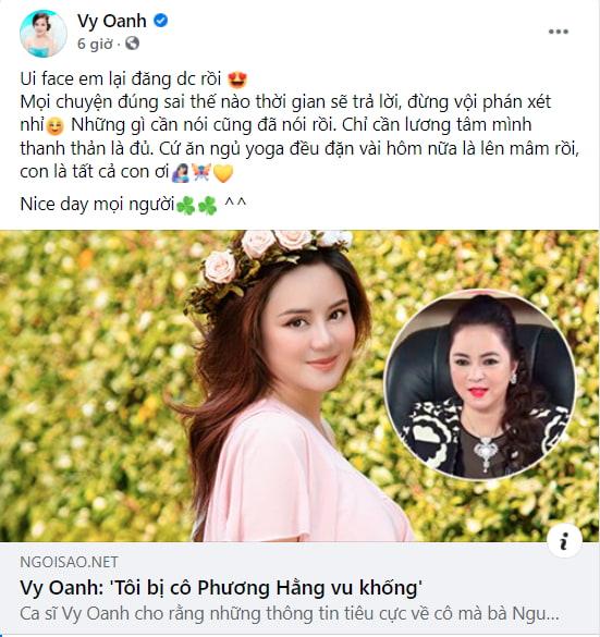 drama bà Phương Hằng và Vy Oanh: Vy Oanh chủ động kết thúc không quan tâm
