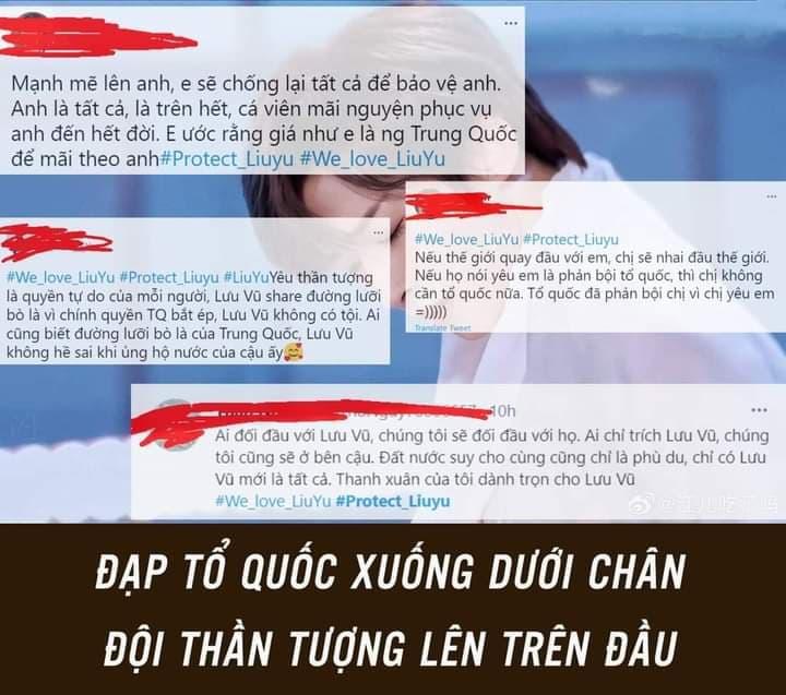 Fan Việt mù quáng bất chấp ủng hộ idol Lưu Vũ chia sẻ đường lưỡi bò