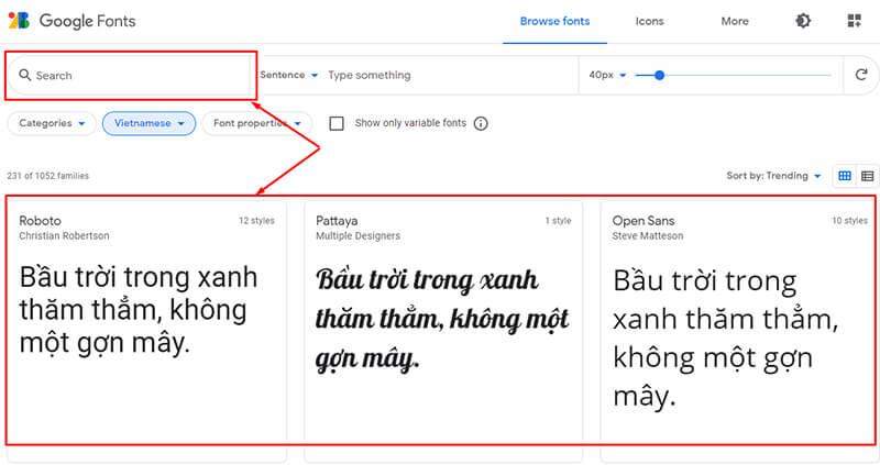 Cách tải font chữ tiếng Việt về máy tính