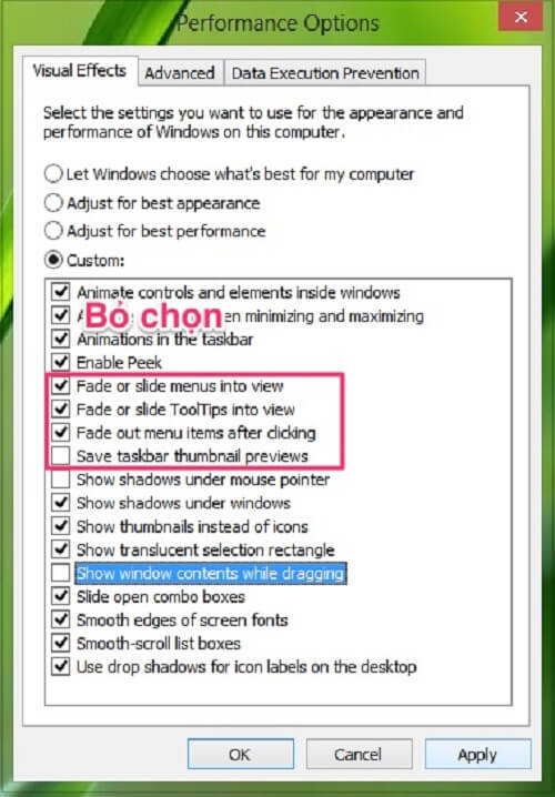 Cách tăng tốc máy tính Win 8