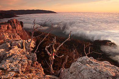Dawn in the Ai-Petri mountains