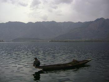 A boat in Dal lake, Srinagar