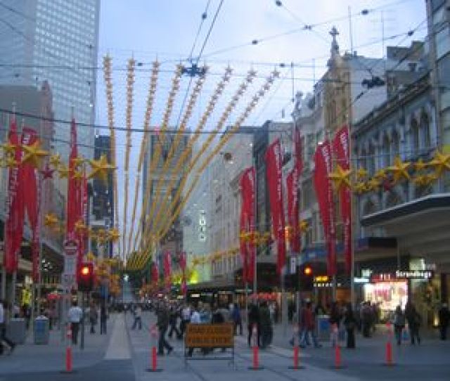 Bourke Street Mall Melbourne Is Known As