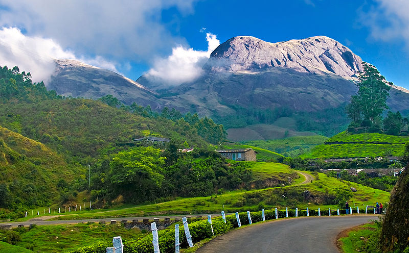 The most popular Hill station of Kerala - Munnar, Image Credit: http://wikitravel.org/en/Kerala