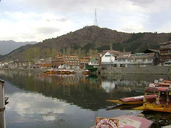 Shikaras in Dal Lake
