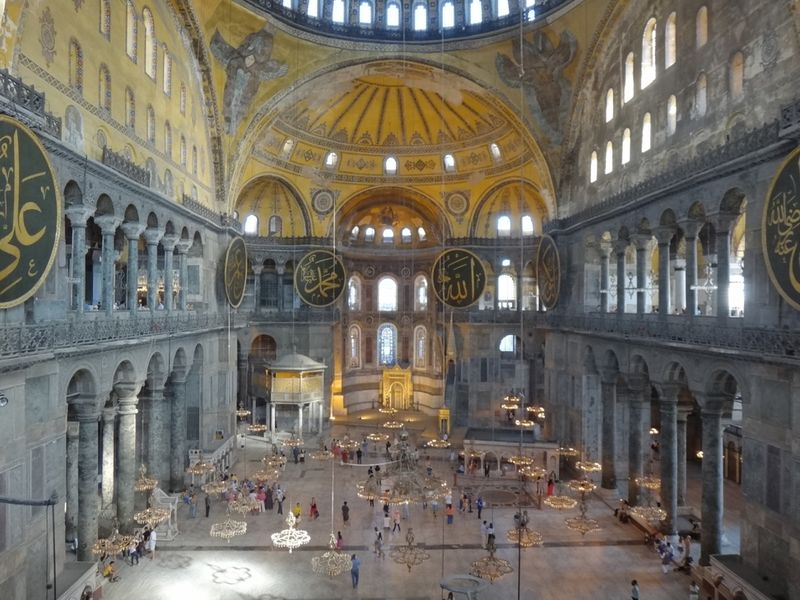 Inside Hagia Sofia, Image Credit: Fabian M. Suchanek