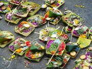 Ubiquitous canang sari offerings