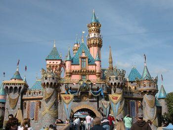 Cinderella's castle at Disneyland, Anaheim, CA