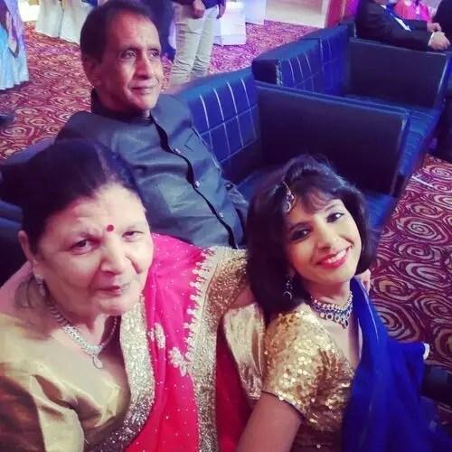 Aditi Tyagi (News Anchor) with Parents