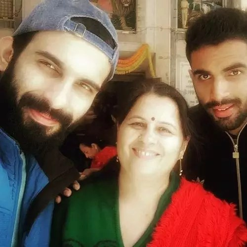 Ankit with Mother Rita Siwach