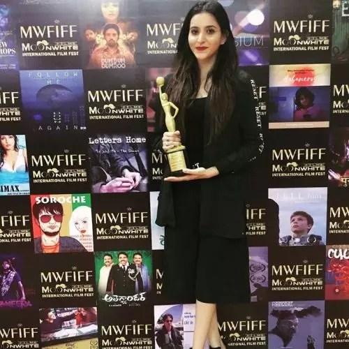 Receiving Tithi Raj Award