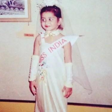 Tithi's childhood photo