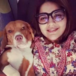 Anjali love dogs
