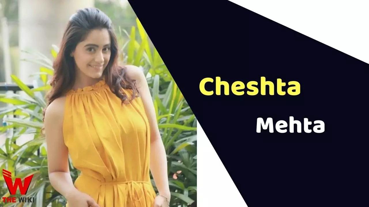 Cheshta Mehta (Actress)