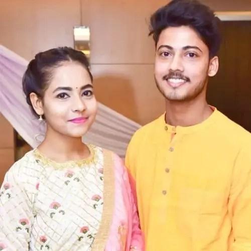Nandini Maurya with brother